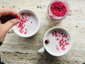 Hindbær moon milk